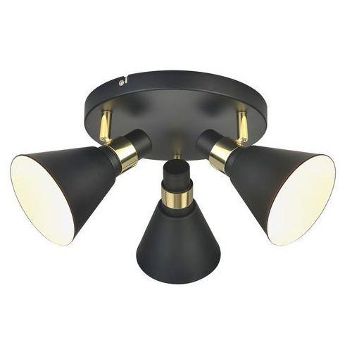 Plafon Italux Biagio MB-H16079CK-3 lampa sufitowa 3x40W E14 czarny mat/złoty, kolor Czarny