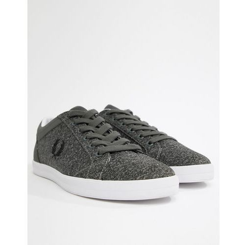 Fred Perry Baseline Bonded Marl Trainers in Grey - Grey, kolor szary