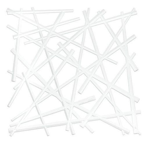 Koziol Panel dekoracyjny stixx - 4 sztuki w komplecie - kolor biały,