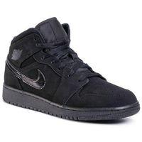 Buty - air jordan 1 mid 554725 056 black/black/black marki Nike