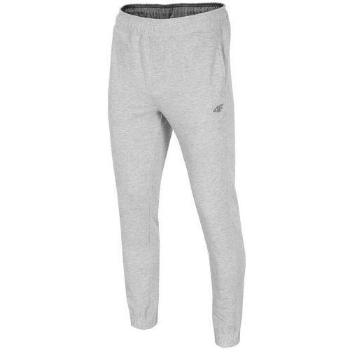 Spodnie dresowe męskie SPMD001 4F - Jasny szary
