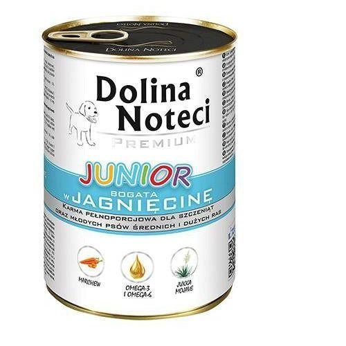Dolina noteci  premium junior z jagnięciną 400 g