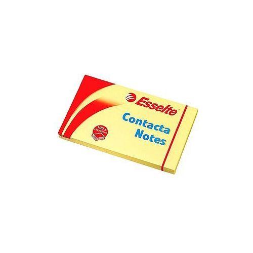 Bloczek samoprzylepny 75x125mm Esselte Contacta żółty 100 kartek 83001