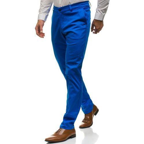 Dispores Spodnie chinosy męskie niebieskie denley 0100