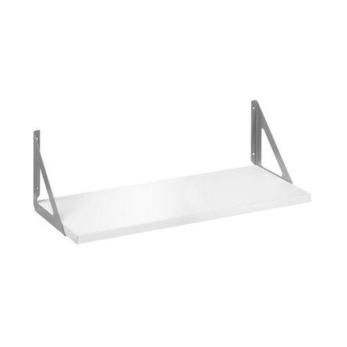 Półka ze wspornikami TRIANGOLO Biało-srebrna 60 x 25 cm DOLLE DOLLE (4007557111001)