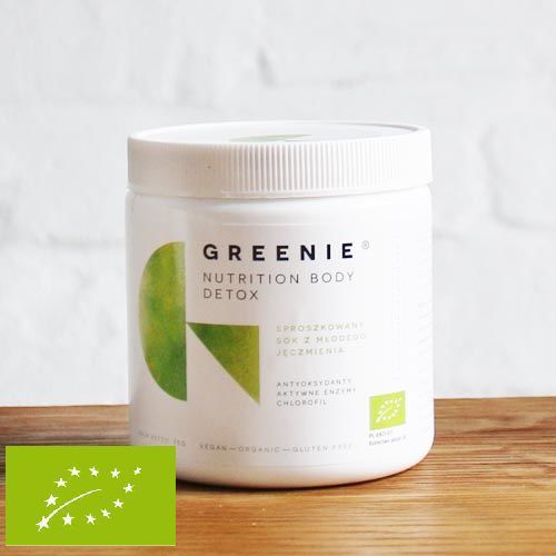 Aura herbals Greenie ® - sproszkowany bio sok z młodego jęczmienia 75g 75 g