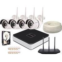 Overmax Zestaw monitoringu 4x kamera 720p + rejestrator + 2tb + router ip wifi