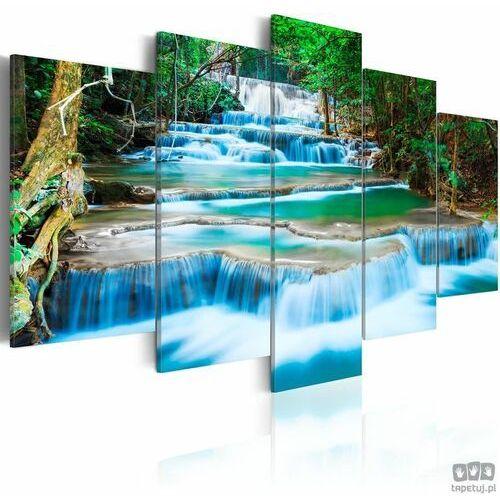 Obraz błękitny wodospad w kanchanaburi, tajlandia marki Artgeist