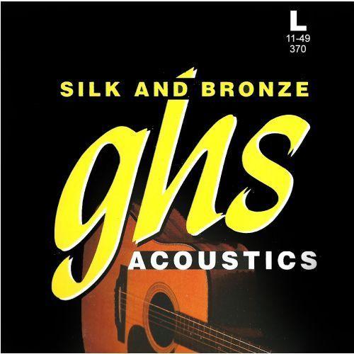 silk and bronze struny do gitary akustycznej, phosphor bronze, light,.011-.049 marki Ghs