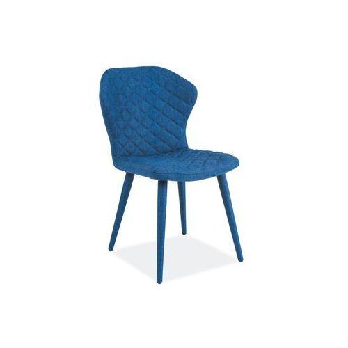 Krzesło metalowe SIGNAL LOGAN niebieski LOFT