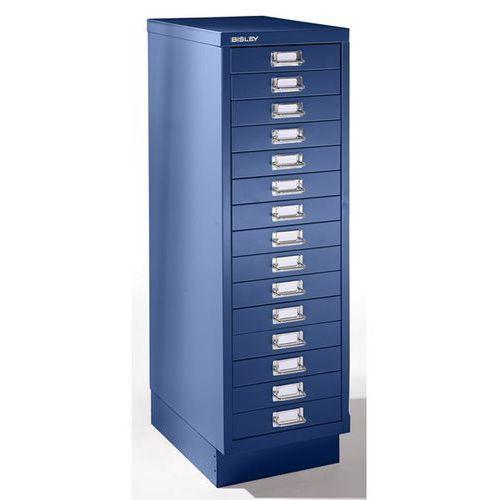 MultiDrawer™ seria 39, z cokołem, DIN A4, 15 szuflad, kobaltowo-niebieski. BISLE