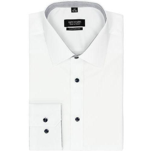 Koszula bexley 2455 długi rękaw regular fit biały, Recman