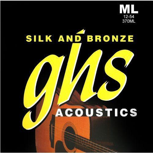 GHS Silk and Bronze struny do gitary akustycznej, Phosphor Bronze, Medium Light,.012-.054