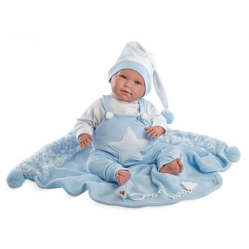 Lalka 74023 śmiejąca się lalka oliwier nieb.piżama marki Llorens
