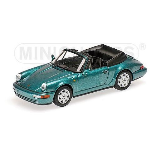 Porsche 911 carrera 2 cabriolet 1990 (turquoise) - marki Minichamps