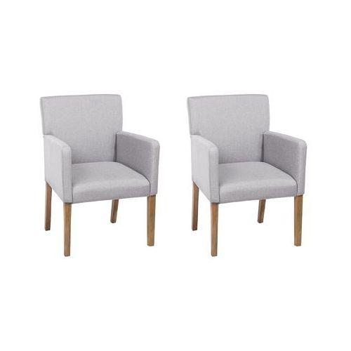 Beliani Zestaw do jadalni jasnoszary 2 krzesła rockefeller (4260602376187)