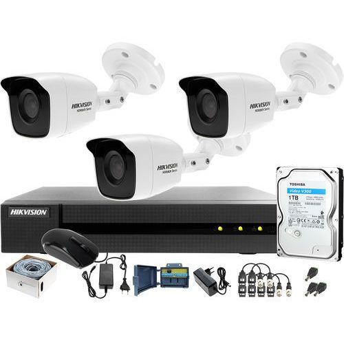 Monitoring po skrętce utp hwd-6104mh-g2 3x hwt-b140-m 1tb do samodzielnego montażu marki Hikvision hiwatch