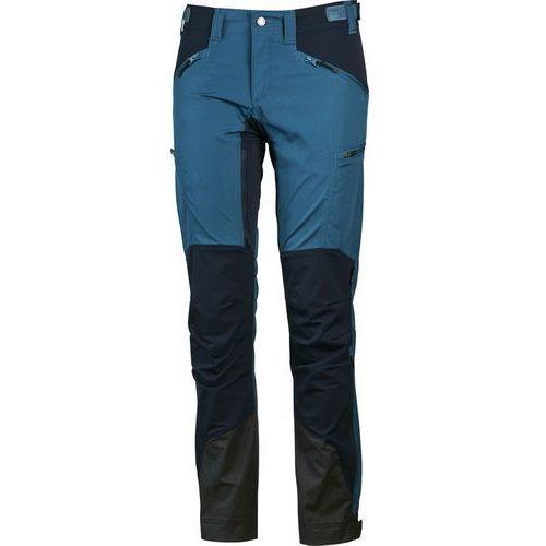 makke spodnie długie kobiety regular niebieski 38-standardowe 2018 spodnie turystyczne marki Lundhags