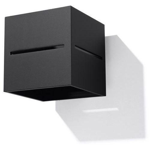 Sollux Kinkiet lampa ścienna sol sl.204 kwadratowa oprawa metalowa kostka cube przyścienna czarna (5902622427034)