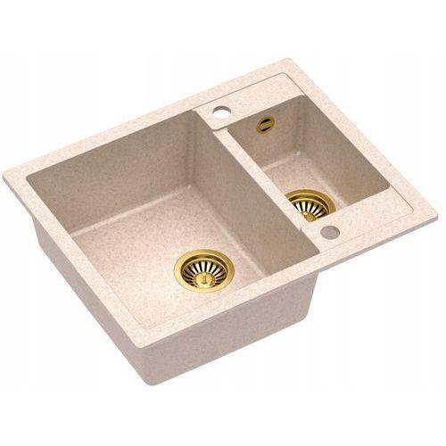 Quadron Zlewozmywak morgan 150 hb8214u3-g1 złoty/beżowy metalik (5903242531606)