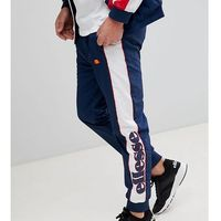 Ellesse track joggers with panel logo in navy - navy
