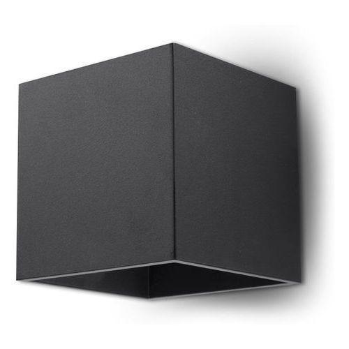Sollux Quad 1 SL.0057 Kinkiet lampa ścienna 1x40W G9 czarny >>> RABATUJEMY do 20% KAŻDE zamówienie!!!, SL.0057