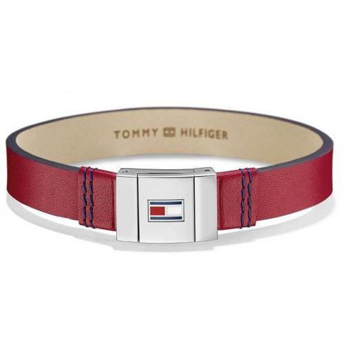 Tommy hilfiger stylowa bransoletka czerwona skóra th2700951 (2376873652508)