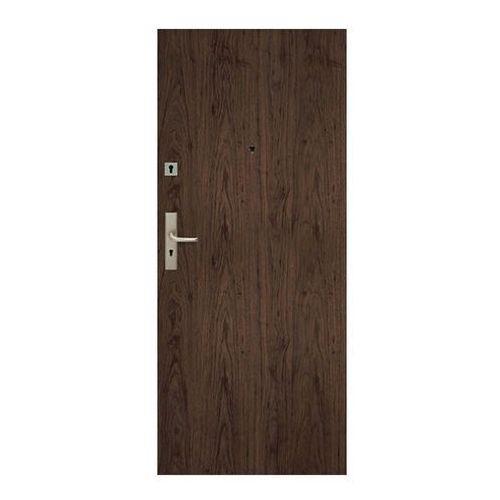 Drzwi pełne Dominos 90 prawe orzech naturalny
