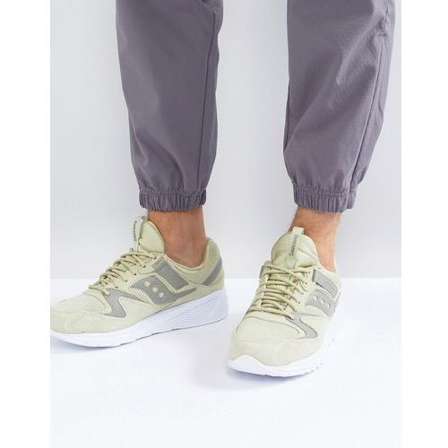 grid 8500 ht suede trainers in green s70370-2 - green marki Saucony