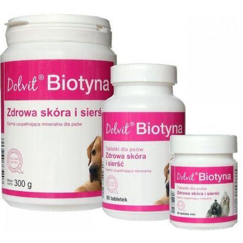 biotyna - preparat mineralno - witaminowy dla psów poprawia kondycję skóry i sierści (proszek) 300g marki Dolfos