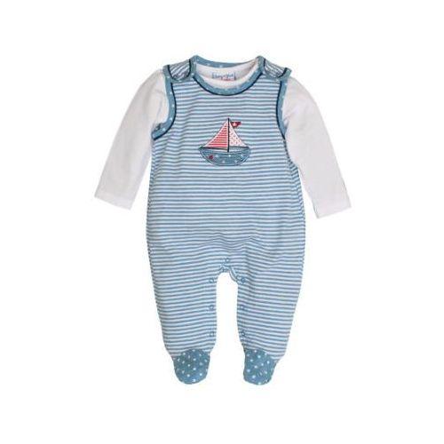 Salt and pepper baby glück boys śpioszki łódka indigo blue (4054432740849)