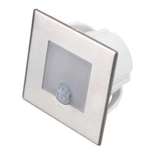 Lampa schodowa LED DPM 1,2 W 4000 K IP20 kwadratowa z czujnikiem ruchu stal nierdzewna, YCB177S-PIR