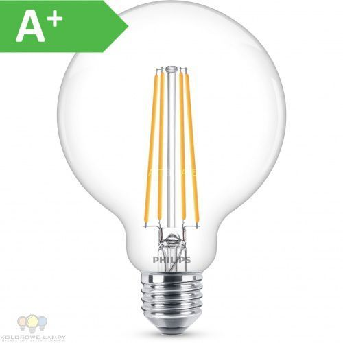 Philips żarówka światła led classic led bulb dimmable 8w (60w) g93 e27 827 clear e27