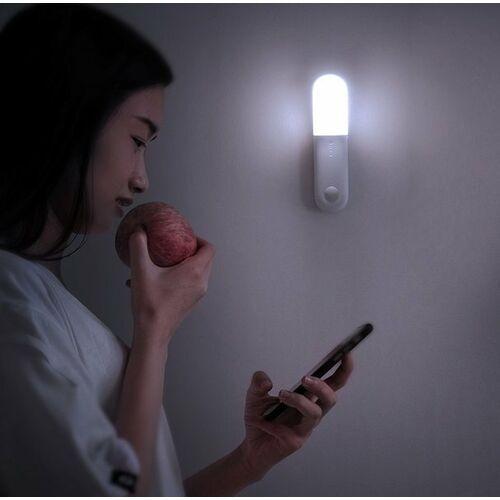 Baseus bezprzewdowoa lampka nocna z czujnikiem ruchu magnetyczna + latarka led | białe światło - biały \ lampka (6953156215597)