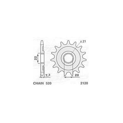 JR ZĘBATKA 2120 14 HONDA CRF 250 (04-09), CR 125 (04-08) (+1) (132314JT) 212014JR