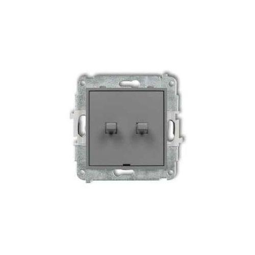 Łącznik świecznikowy Karlik Mini 27MWPUS-2 w stylu amerykańskim szary mat (5903268588301)