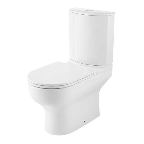 Kompakt WC GoodHome Cavally Slim Dual bezkołnierzowy 3/6 l z deską wolnoopadającą