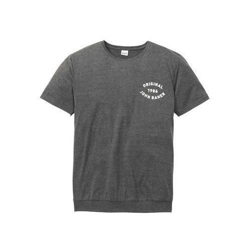 Bonprix T-shirt z cekinami średni różowy