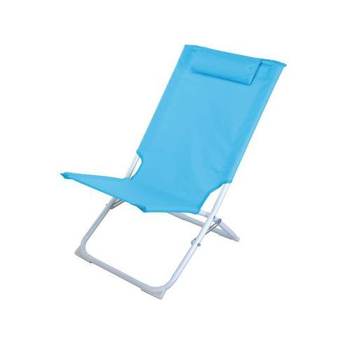 Składane krzesło plażowe PRO BEACH, leżanka ogrodowa, PALETA 24/5 8711295974908-niebieski