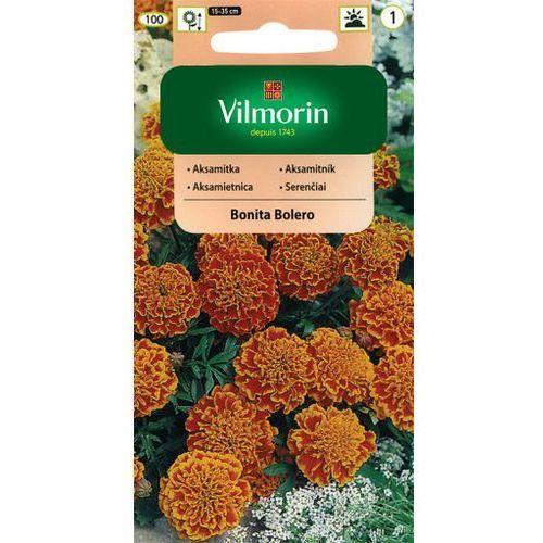Aksamitka rozpierzchła-pełna pomarańczowo-mahoniowa bonita bolero 1g marki Vilmorin