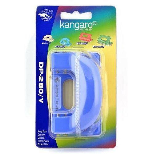 Dziurkacz KANGARO DP-280Y, dziurkuje do 11 kartek, blister, błękitny (5901503667286)