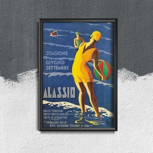 Vintageposteria.pl Plakat w stylu retro plakat w stylu retro włochy alassio