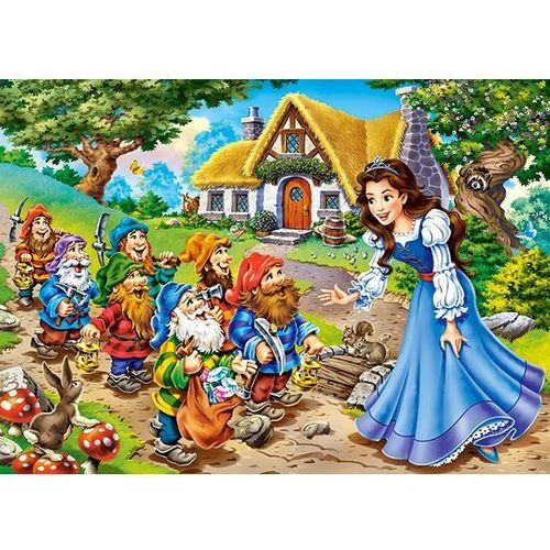 1-013401 Puzzle Królewna Śnieżka i siedmiu krasnoludków - PUZZLE DLA DZIECI