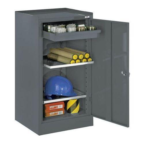 Szafa na narzędzia,z 1 szufladą, 2 półki, raster regulacji wysokości 40 mm marki Quipo
