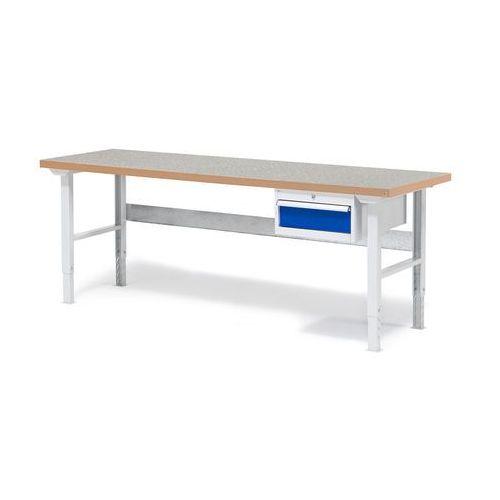 Stół warsztatowy SOLID, z szufladą, 500 kg, 2000x800 mm, winyl, 232132