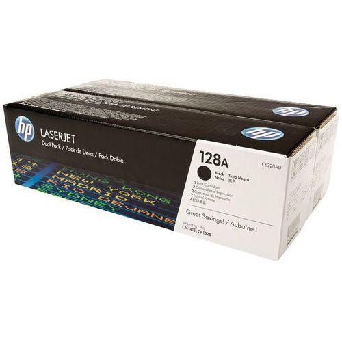Hewlett-packard Zestaw tonerów hp 128a / ce320ad black do drukarek (oryginany) [2x2k]