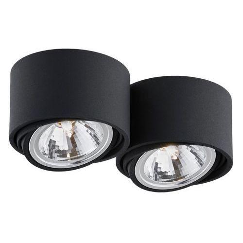 - oprawa stropowa natynkowa podwójna - lumos - czarna - czarny marki Kaspa
