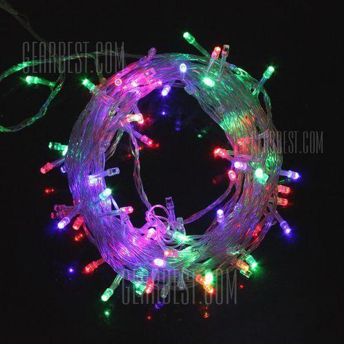 220V 6.5W 10M Flash 100-LEDs RGB Light Christmas LED Strip Light Lamp ( EU Plug )