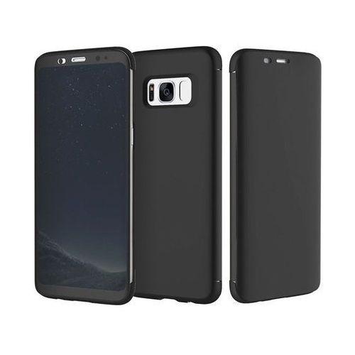 Etui rock dr. v z interaktywną klapką Galaxy S8+ Plus czarne - Czarny (6950290601644)