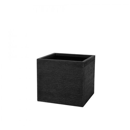 Blmeble Doniczka czarna kwadratowa 50 x 50 x 46 cm filippo